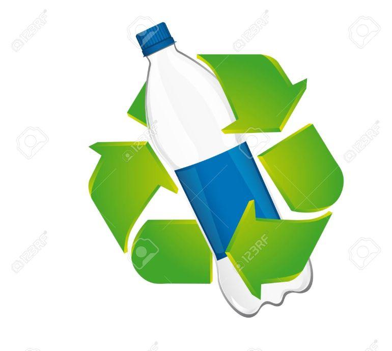 13599715-recicle-la-muestra-con-una-botella-de-plástico-aisladas-sobre-fondo-blanco-vector