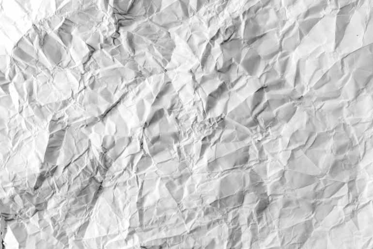 creased crinkled crumpled crumpled paper